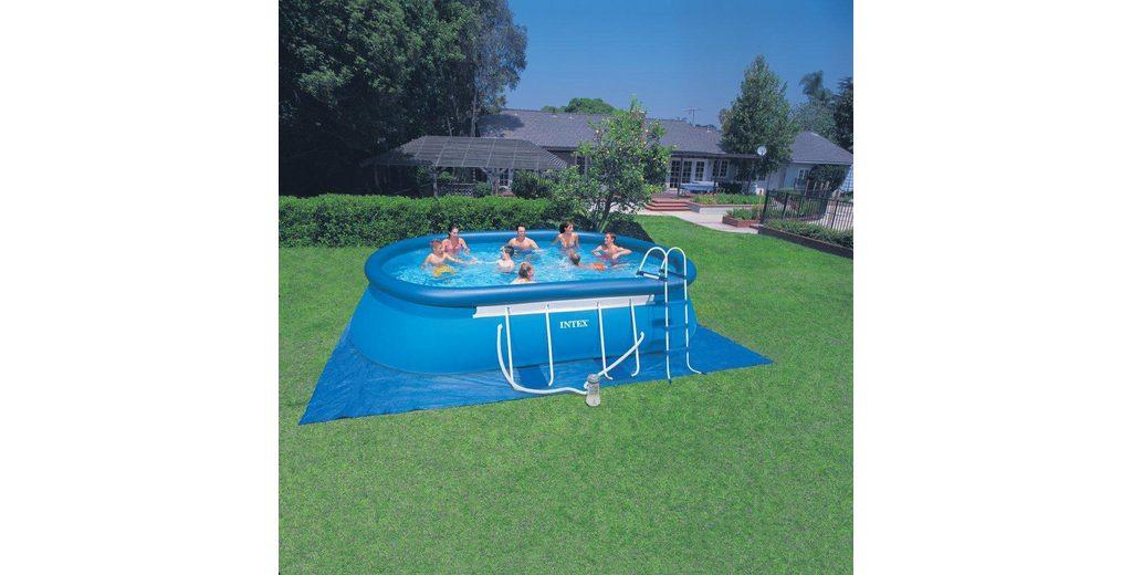 Intex Pool-Set, mit Kartuschenfilteranlage, 549 x 305 x 107 cm, »Oval Frame Pool Set-Komplettset«