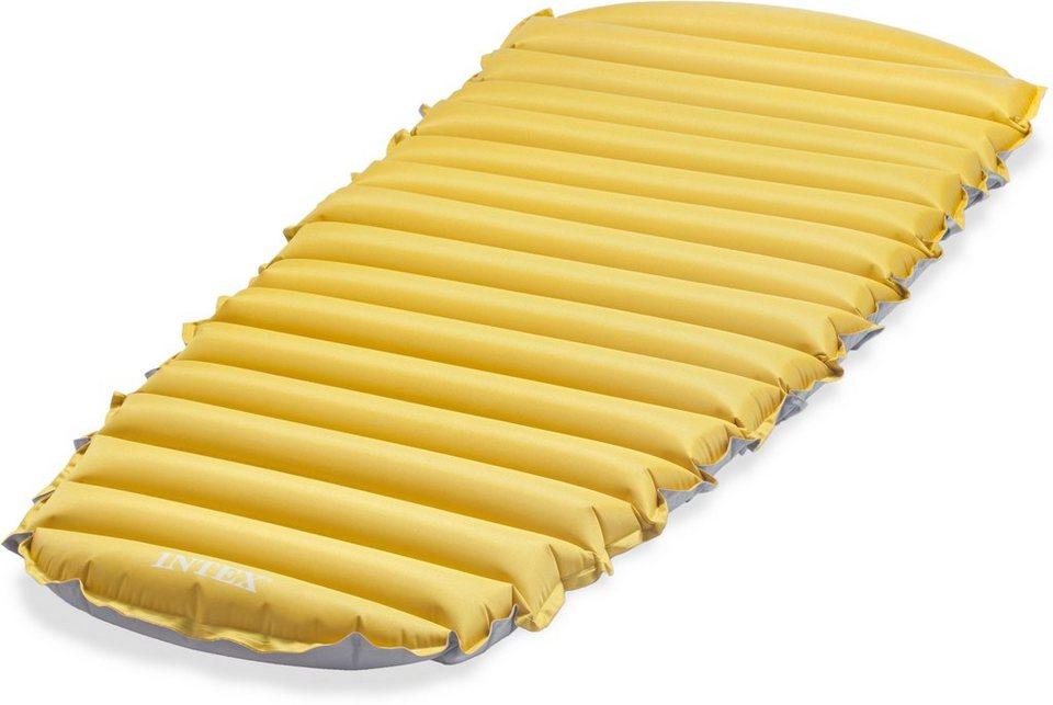 Intex Camping Matratze, 183/76/10 cm, gelb-grau, »Cot Size Camp Bed« in gelb-grau