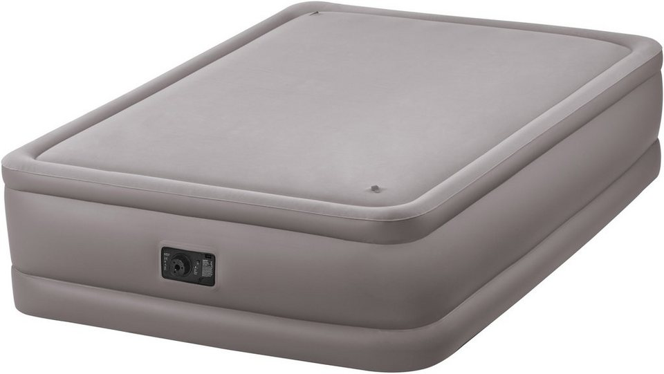 Intex Luftbett mit integrierter Elektropumpe, 203/152/51 cm, »Foam Top Bed Queen« in beige
