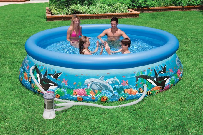 Intex Pool-Set, mit Kartuschenfilteranlage, Ø 366 cm, »Ocean Reef Easy Set Pool-Set« in bunt