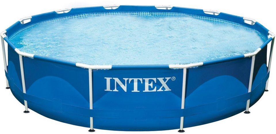 Intex Pool-Set, mit Kartuschenfilteranlage, Ø 732 cm, »Metal Frame Pool Rondo - Komplettset« in blau