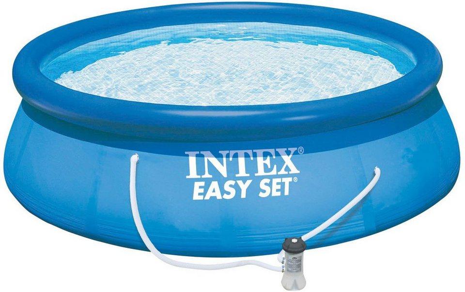 intex pool set mit kartuschenfilteranlage 457 cm. Black Bedroom Furniture Sets. Home Design Ideas