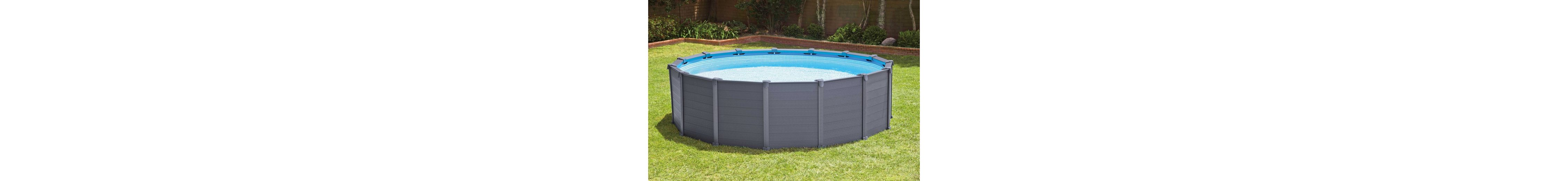 Intex Pool-Set mit Sandfilteranlage, Ø 478 cm, »Graphite Panel Pool Komplett-Set«