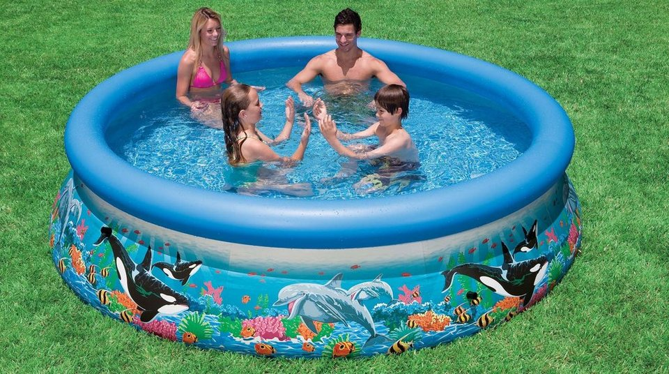 intex pool 305 cm bunt ocean reef easy set pool. Black Bedroom Furniture Sets. Home Design Ideas