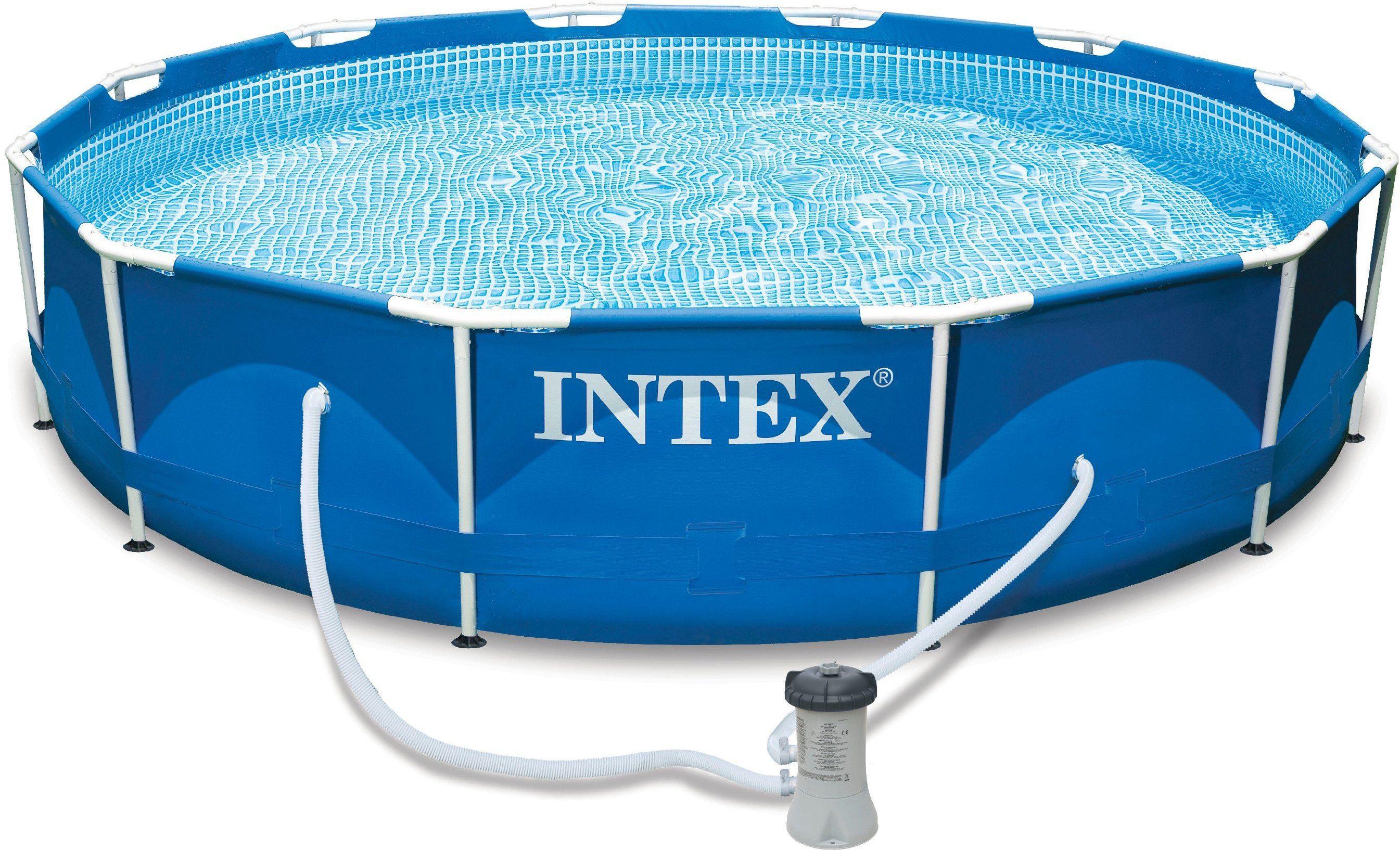 Intex Pool-Set, mit Kartuschenfilteranlage, Ø 457/122 cm, »Metal Frame Pool Rondo - Komplettset«