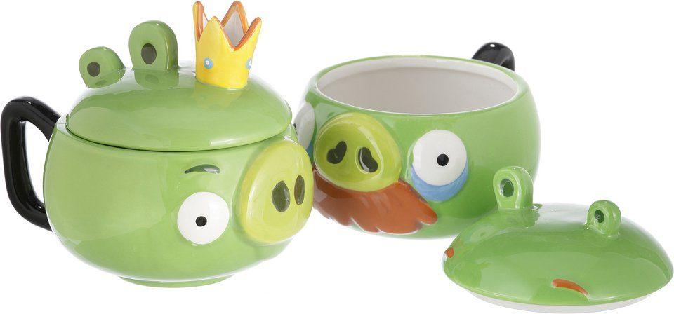 Henkelbecher, »Angry Birds™ Pig Moustache und King Pig« (2tlg.)