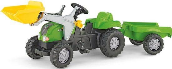 rolly toys® Trettraktor »rollyKid-X, grün«, mit Frontlader und Anhänger
