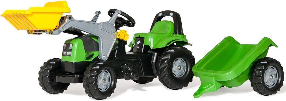rolly toys® Trettraktor mit Frontlader und Anhänger »rollyKid Deutz Fahr Agroplus 420«