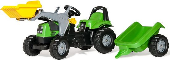 rolly toys® Trettraktor »rollyKid Deutz Fahr Agroplus 420«, mit Frontlader und Anhänger