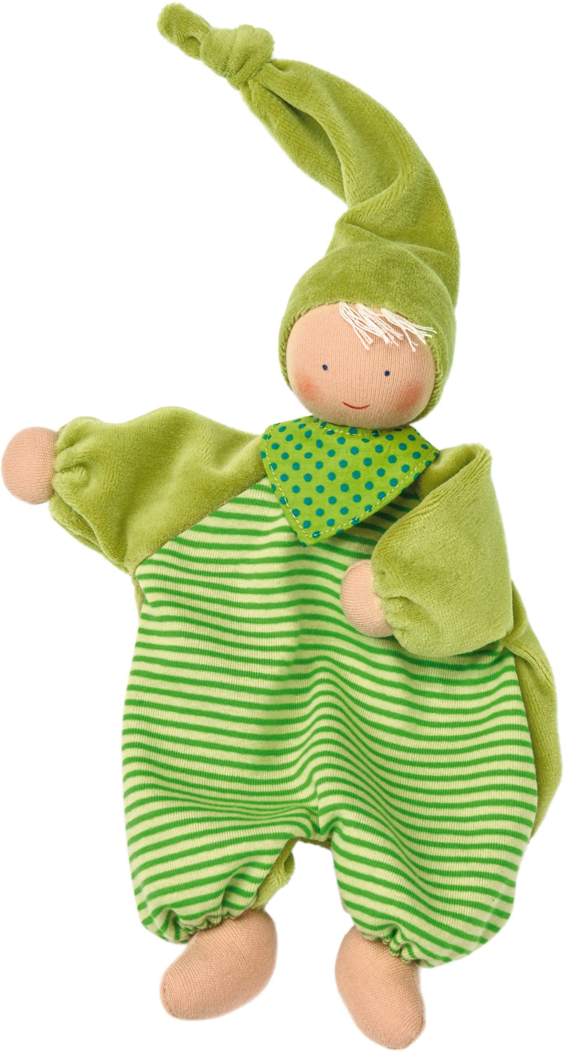 Käthe Kruse Stoffpuppe mit extralanger Zipfelmütze, »Gugguli Grün«