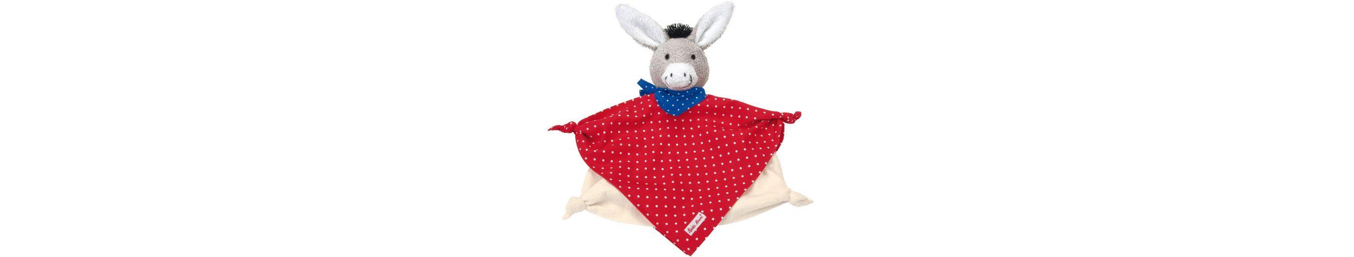 Käthe Kruse Kuscheltuch mit Zipfel, »Baby Esel Tomato Schmusetuch klein«