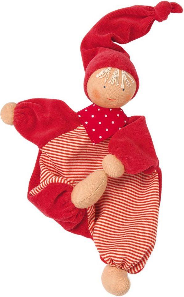 Käthe Kruse Stoffpuppe mit Zipfelmütze, »Gugguli Rot« in rot