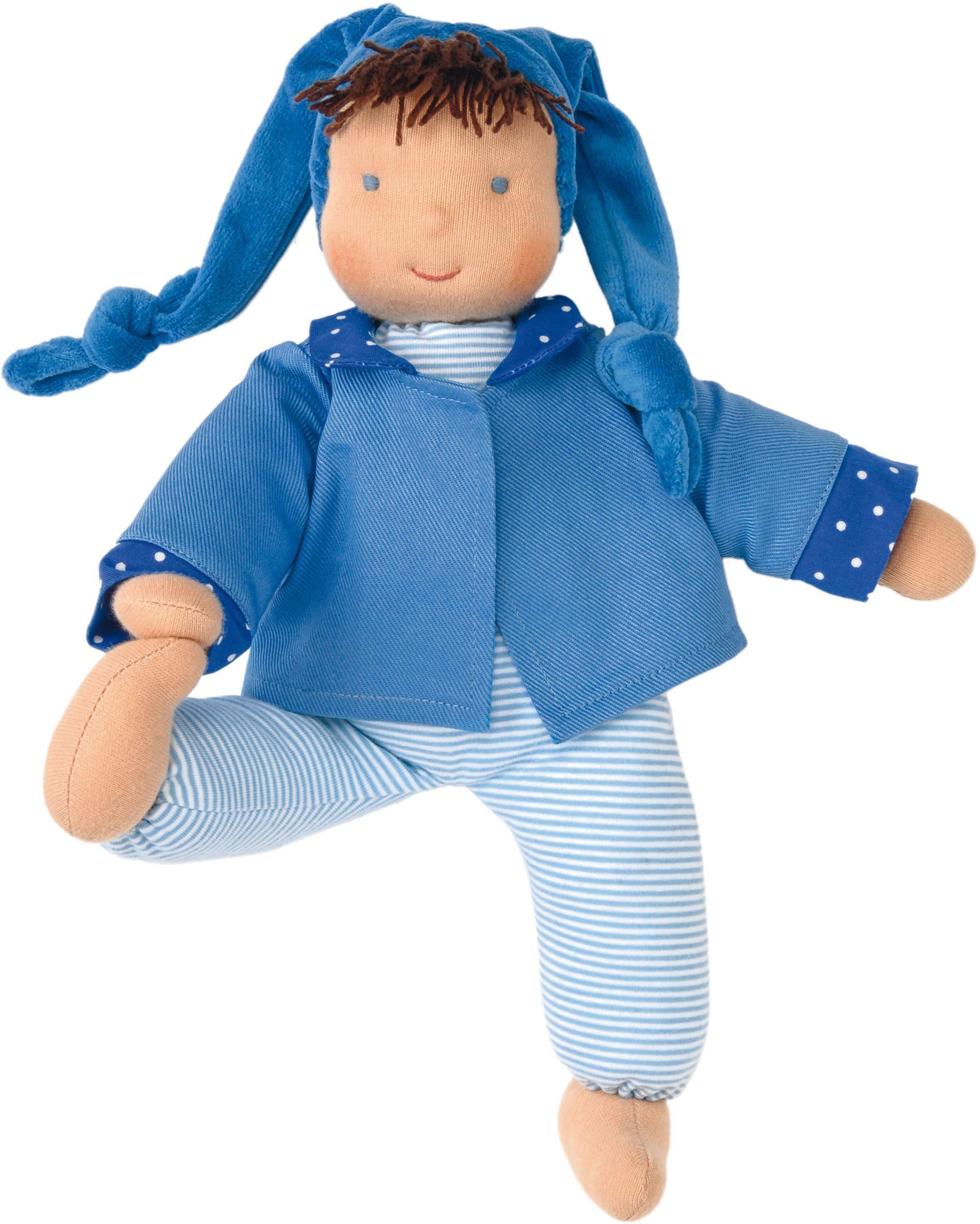 Käthe Kruse Stoffpuppe mit Zipfelmütze, »Schatzi Blau«