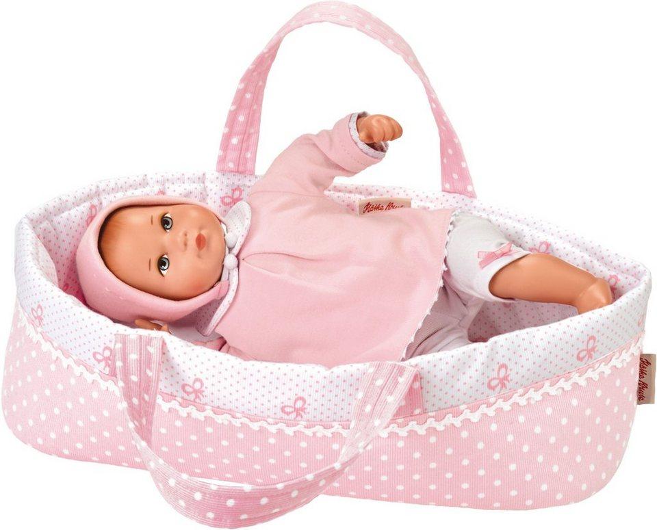 Käthe Kruse Babypuppe mit Wickeltasche, »Mini Bambina Anna mit Tasche« in rosa