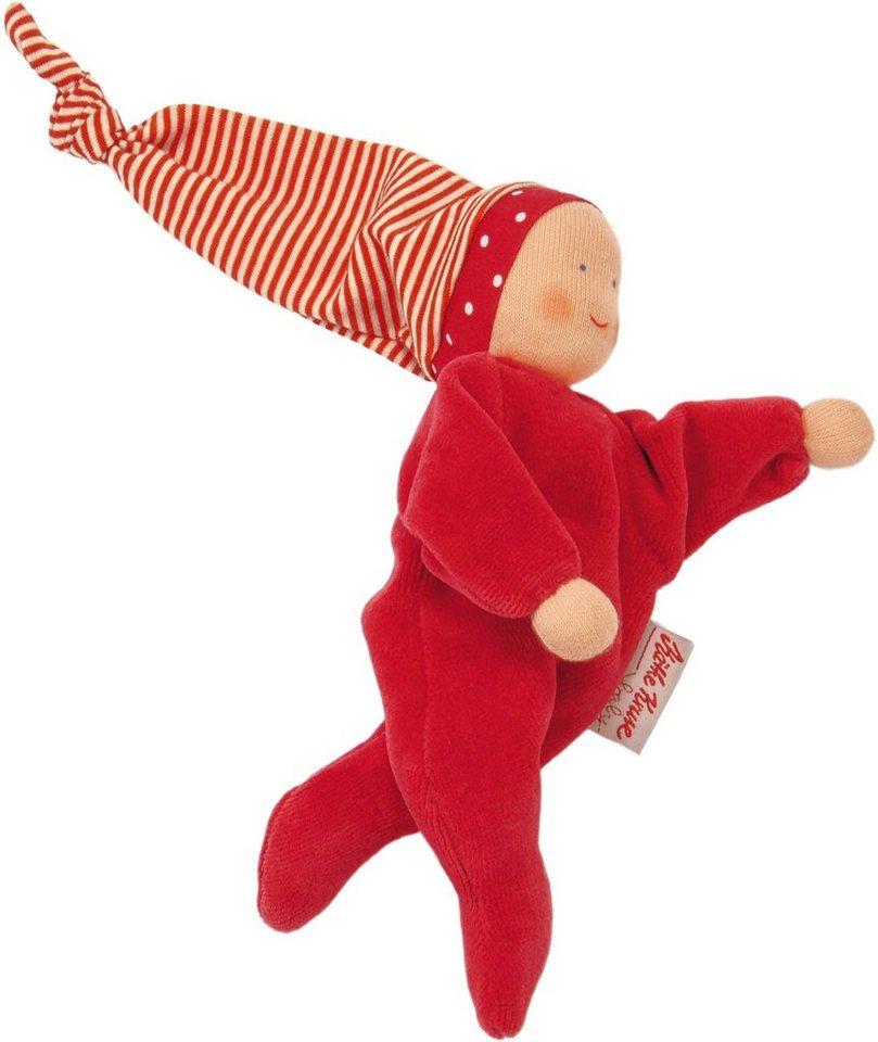 Käthe Kruse Stoffpuppe mit Zipfelmütze, »Nickibaby Rot« in rot