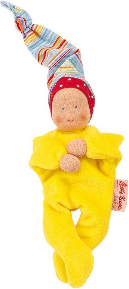 Käthe Kruse Stoffpuppe mit Zipfelmütze, »Nickibaby Gelb« in gelb