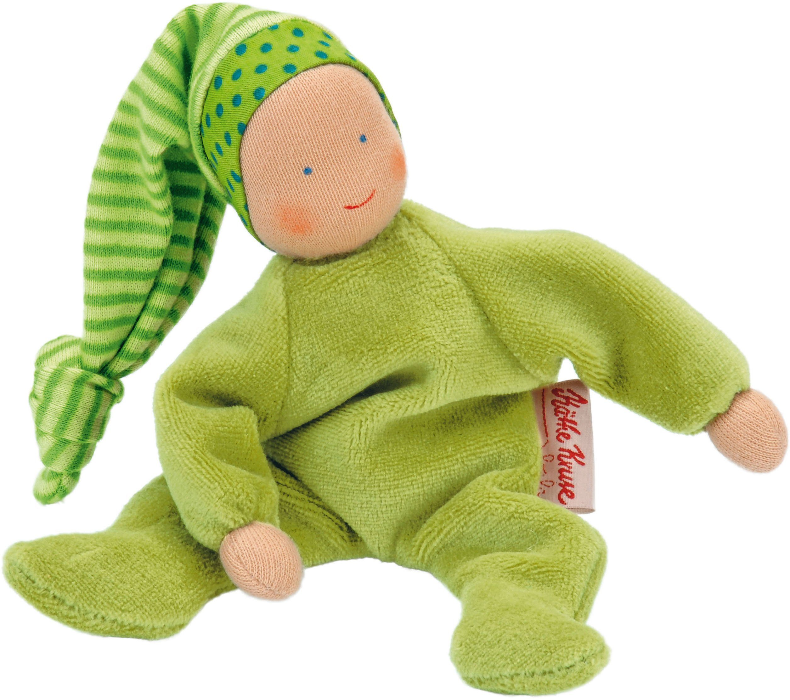 Käthe Kruse Stoffpuppe mit Zipfelmütze, »Nickibaby Grün«