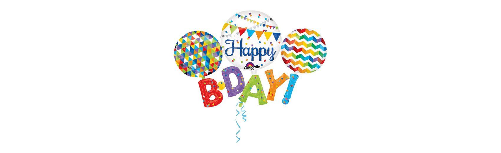Amscan Folienballon Happy B-D-A-Y