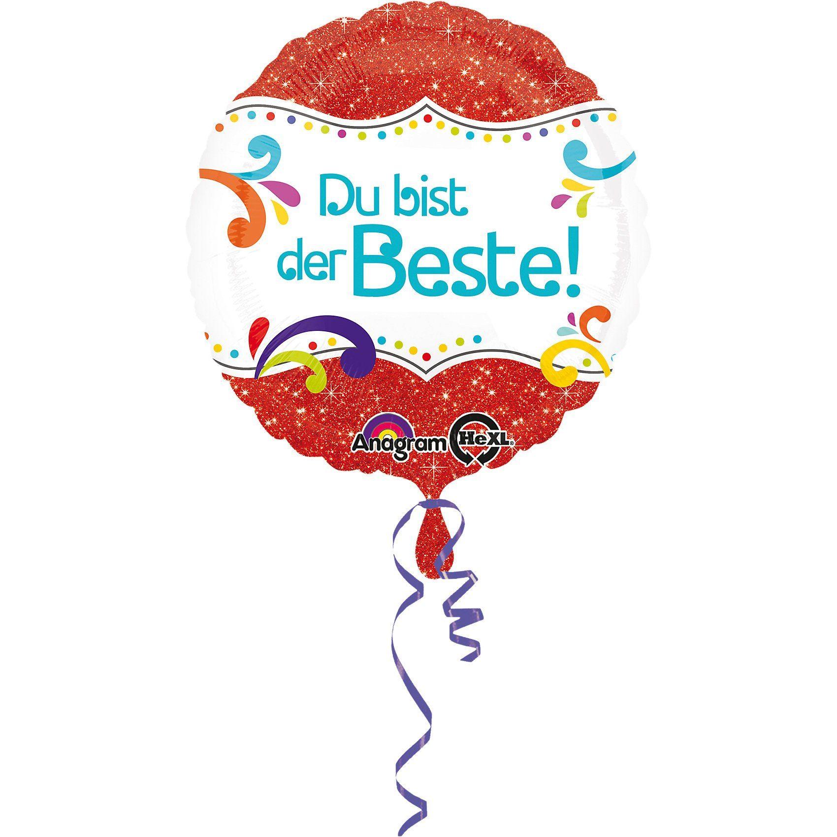 Amscan Folienballon Du bist der Beste!