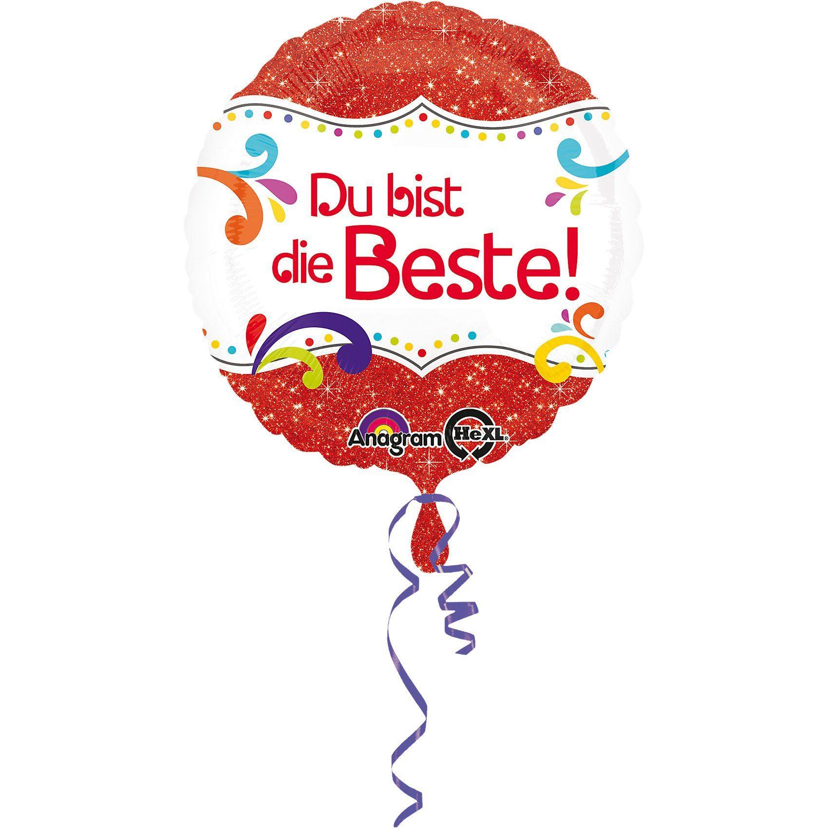 Amscan Folienballon Du bist die Beste!