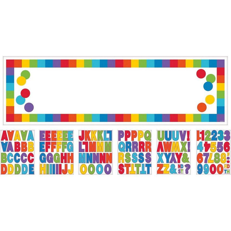 Amscan Banner Birthday Rainbow, personalisierbar