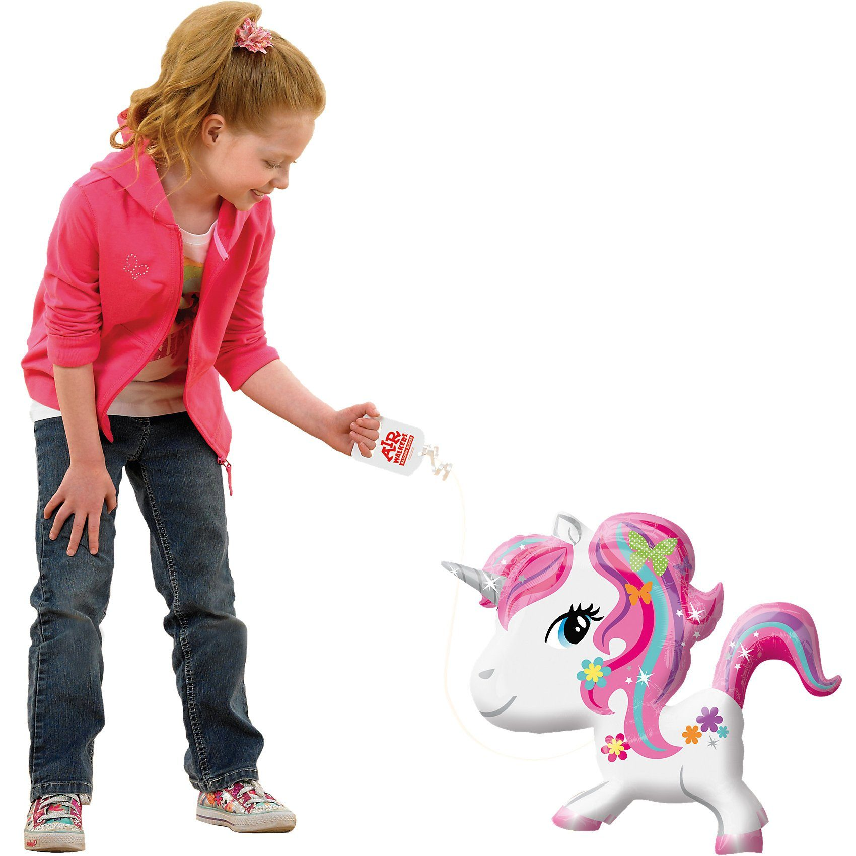 Amscan AirWalker Balloon Buddies Einhorn Folienballon