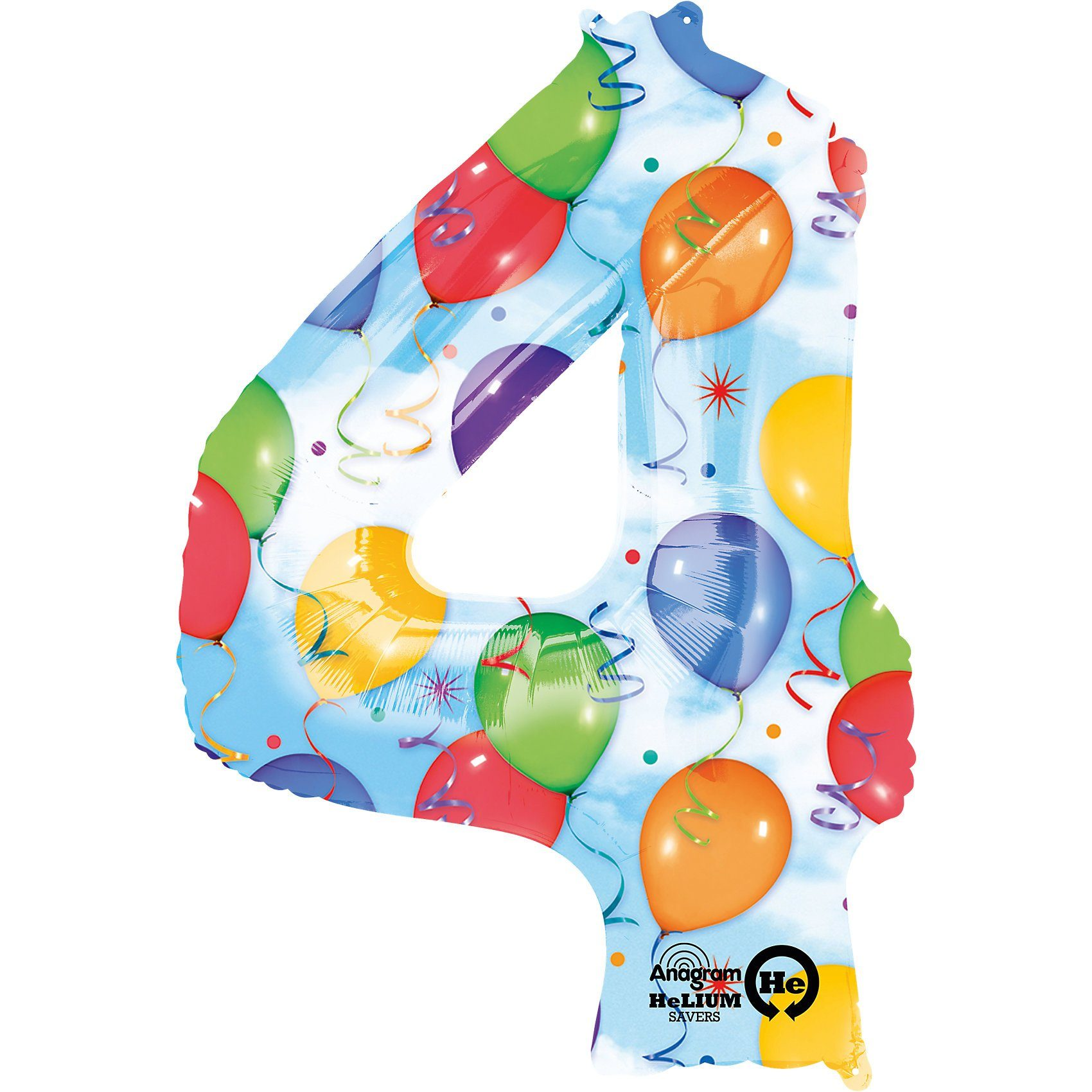 Amscan Folienballon Zahl 4