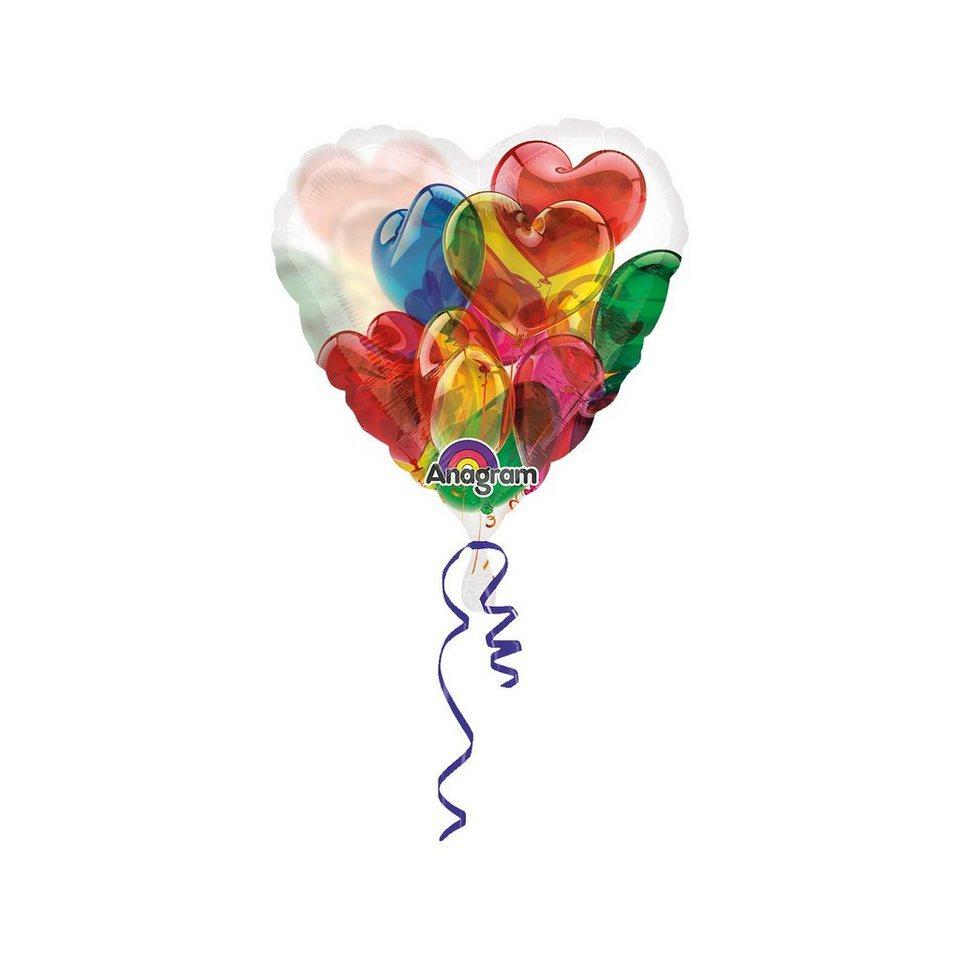Amscan Folienballon buntes Herz