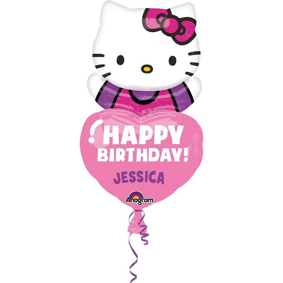 Amscan Amscan Amscan Folienballon Hello Kitty personalisierbar 0c6084