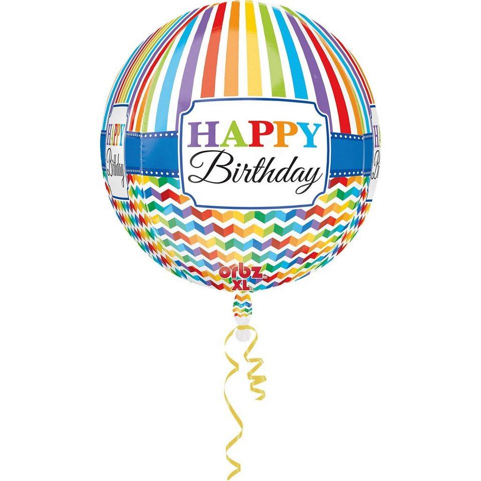 Amscan Folienballon Orbz Happy Birthday