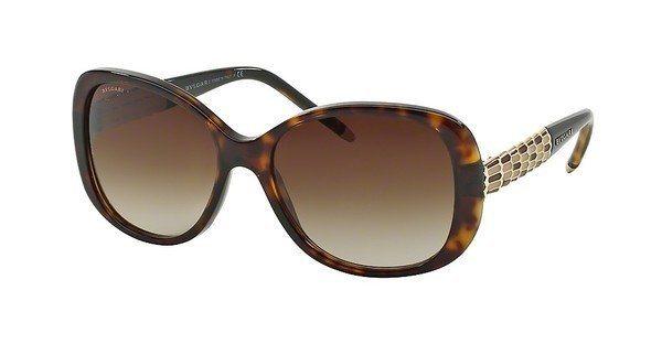 Bvlgari Damen Sonnenbrille » BV8114« in 504/13 - braun/braun