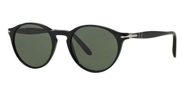 PERSOL Persol Sonnenbrille » PO3092SM«, schwarz, 901431 - schwarz/grün