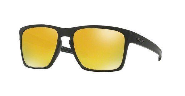 Oakley Herren Sonnenbrille »SLIVER XL OO9341«, schwarz, 934119 - schwarz/grün