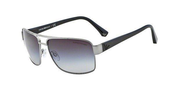 Emporio Armani Herren Sonnenbrille » EA2002« in 30168G - grau/grau