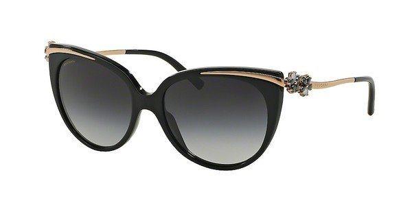 Bvlgari Damen Sonnenbrille » BV8089K« in 51953C - schwarz/grau