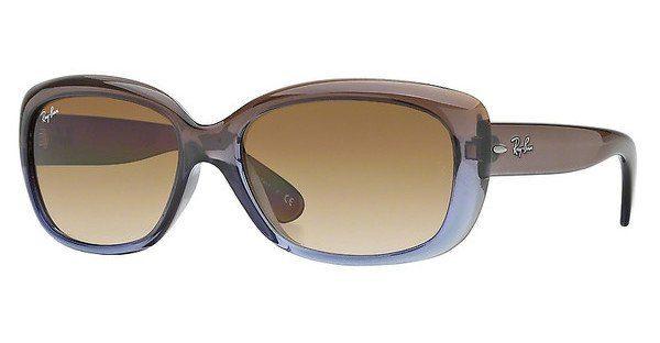 RAY BAN RAY-BAN Damen Sonnenbrille »JACKIE OHH RB4101«, braun, 710/T5 - braun/ braun