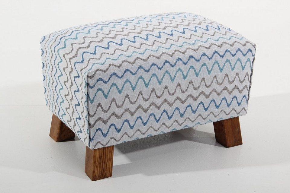 Max Winzer® Hocker »Footstool«, Retro in aqua