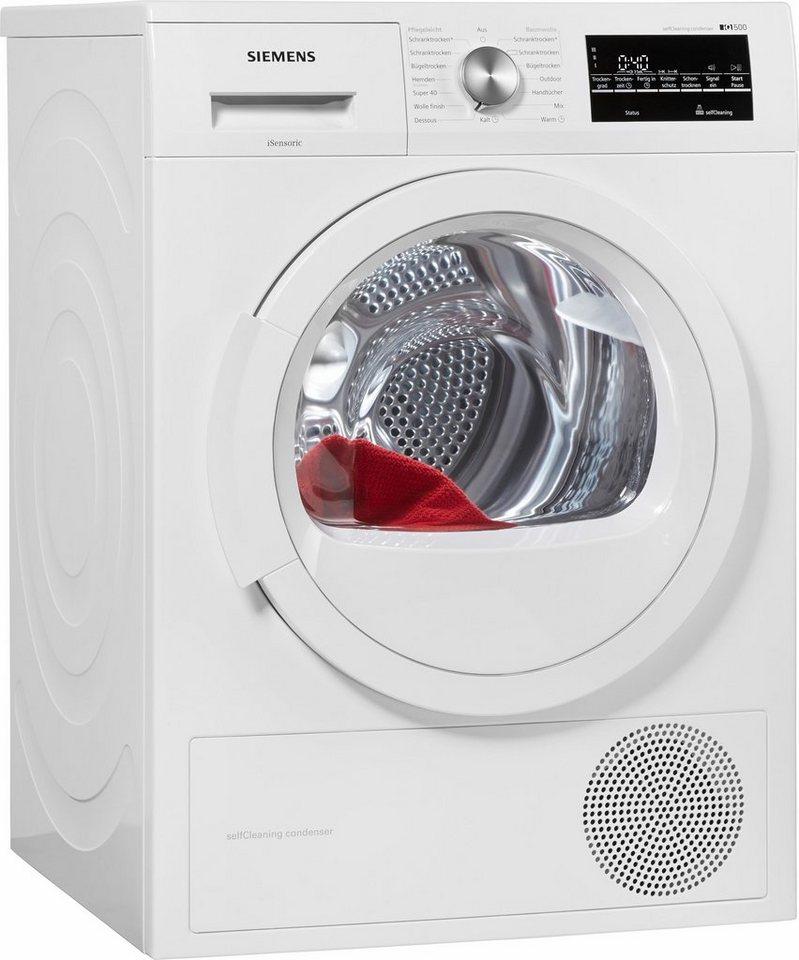 SIEMENS Trockner WT45W460, A++, 7 kg in weiß