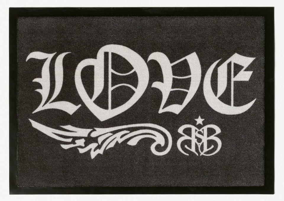 Fußmatte, Rock Star Baby, »804«, rutschhemmend beschichtet in grau