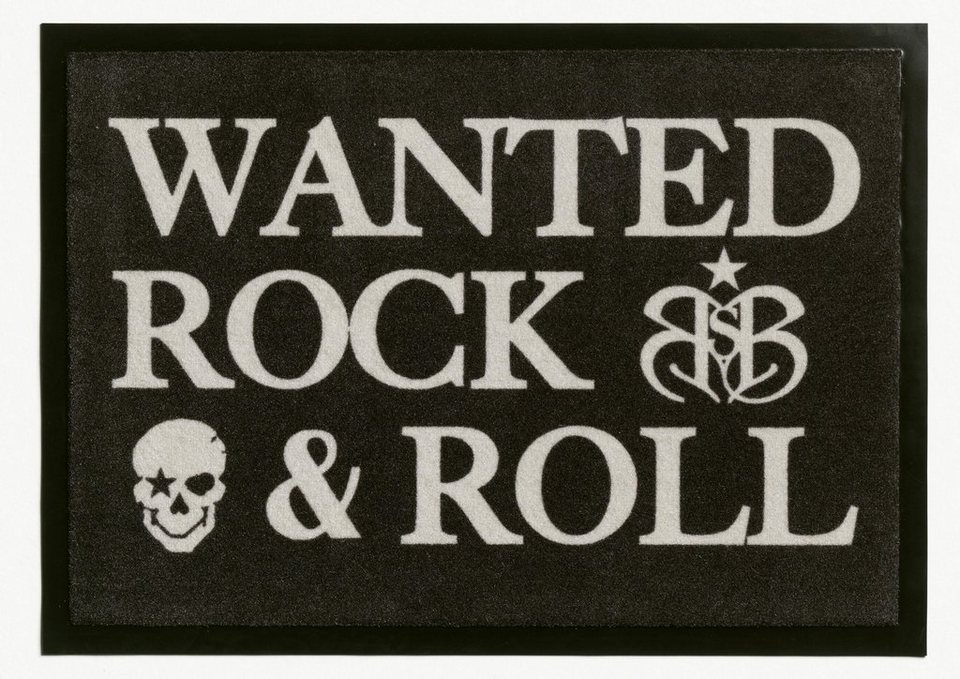 Fußmatte, Rock Star Baby, »806«, rutschhemmend beschichtet in grau