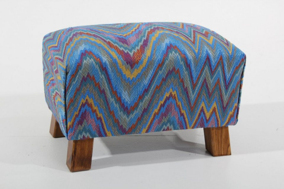 Max Winzer® Hocker »Footstool«, gemustert in blau