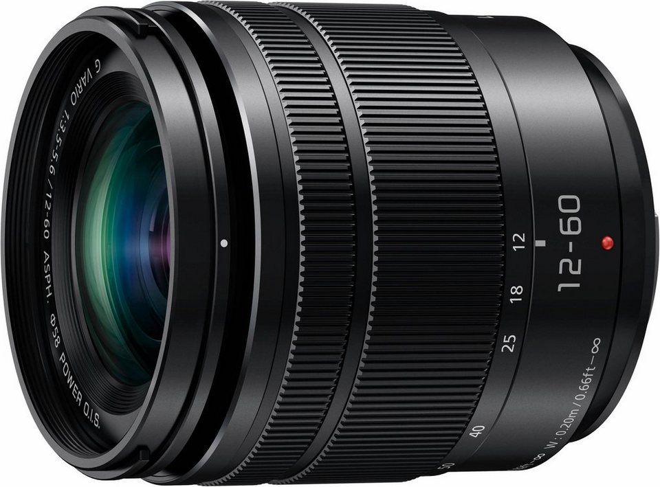 Lumix Panasonic H-FS12060E Weitwinkel Objektiv in schwarz