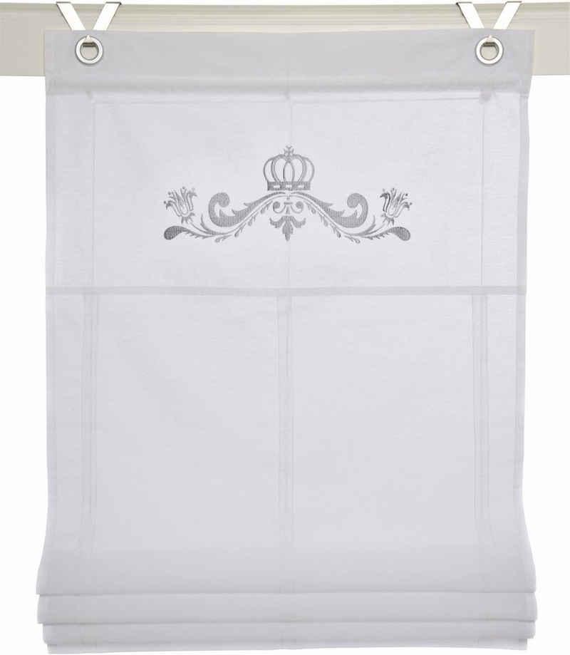 Raffrollo »Kessy Crown«, Kutti, mit Hakenaufhängung, ohne Bohren