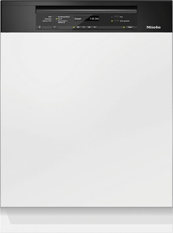 Miele teilintegrierbarer Geschirrspüler, G 6735 SCi XXL schwarz, 9,7 l, 14 Maßgedecke, Energieeffizienzklasse A+++