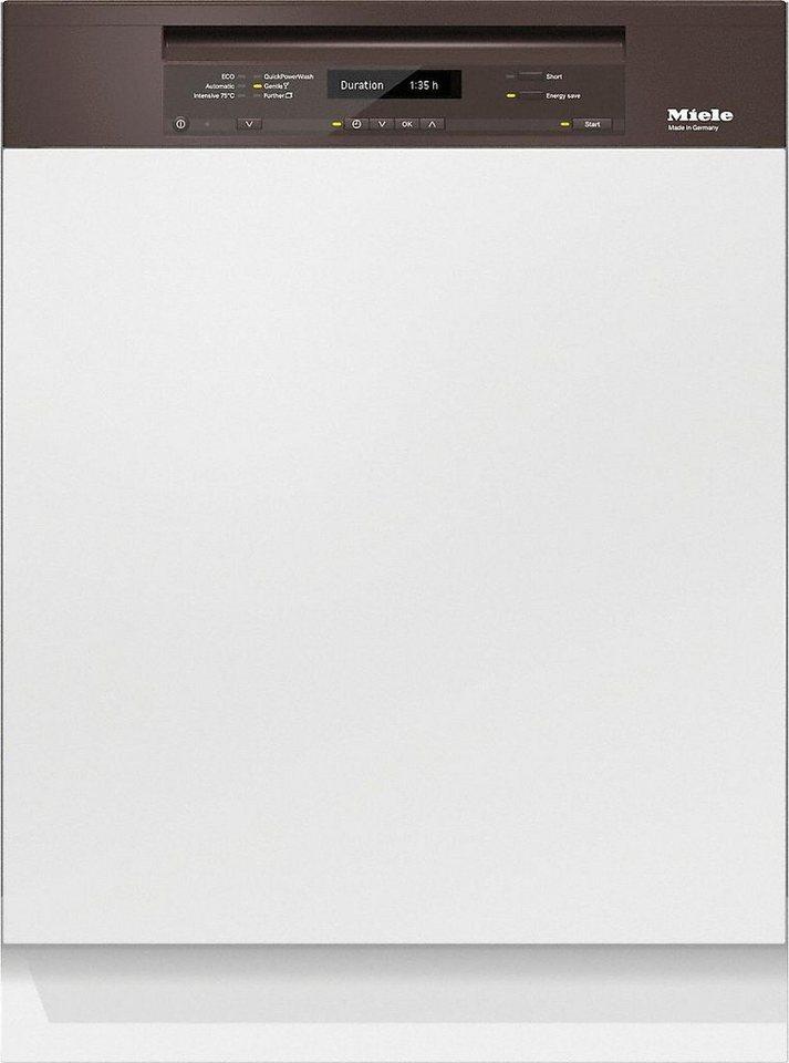 MIELE Teilintegrierbarer Geschirrspüler G 6730 SCi, A+++, 9,7 Liter, 14 Maßgedecke in braun