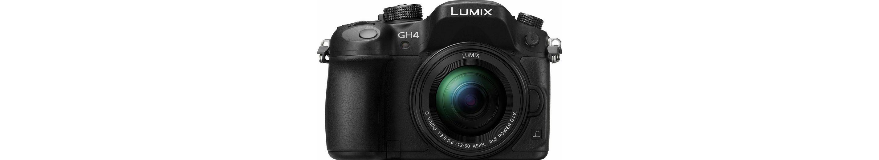 Lumix Panasonic DMC-GH4MEG-K System Kamera, H-FS12060 Zoom, 16 Megapixel, 7,5 cm (3 Zoll) Display