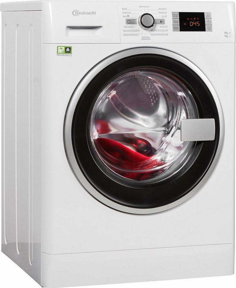 BAUKNECHT Waschtrockner WATK PRIME 9716, A, 9 kg / 7 kg, 1.600 U/Min in weiß