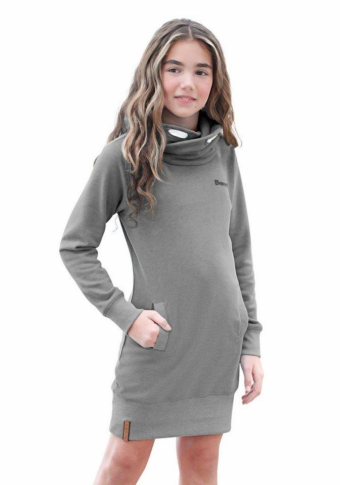 Bench Sweatkleid in schmaler Form in grau-meliert