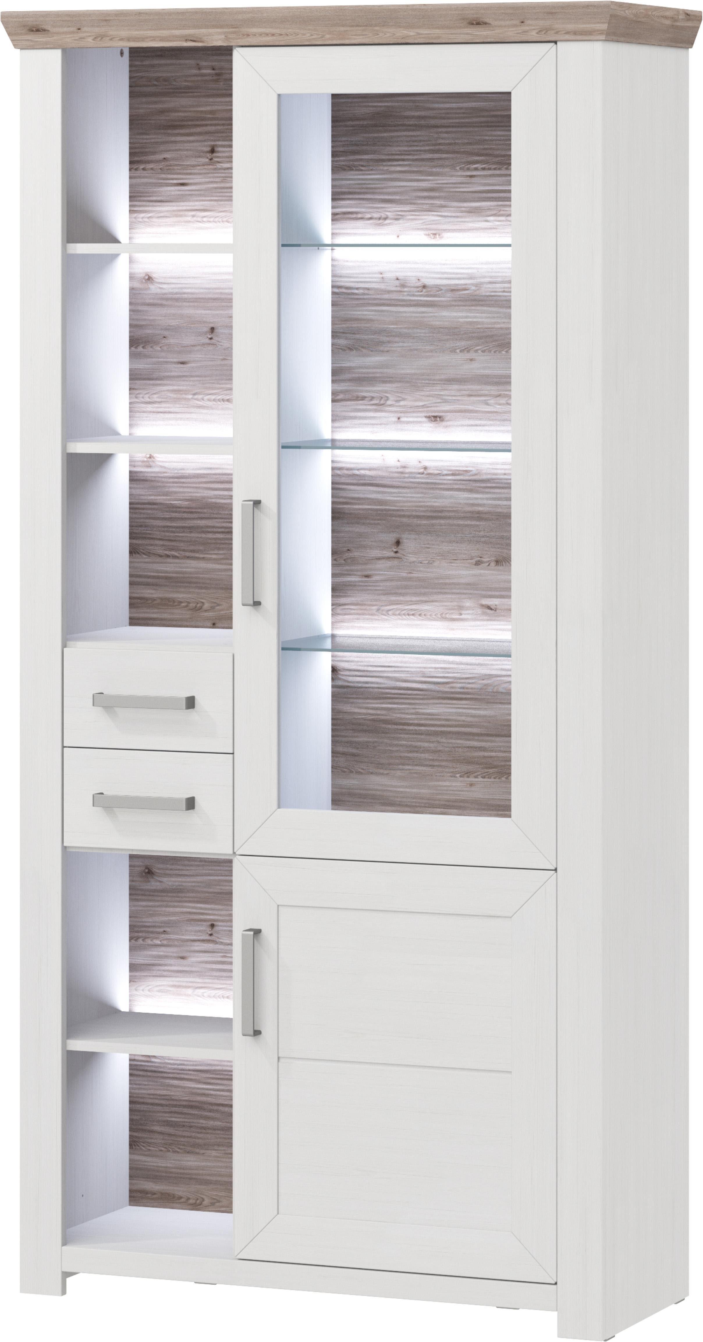 set one by Musterring Vitrinenschrank »york« Typ 06, Pino Aurelio, Türen rechts