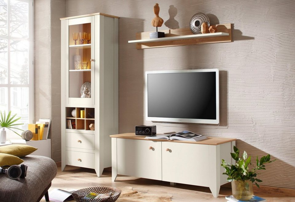 home affaire wohnwand landy 3 tlg kaufen otto. Black Bedroom Furniture Sets. Home Design Ideas